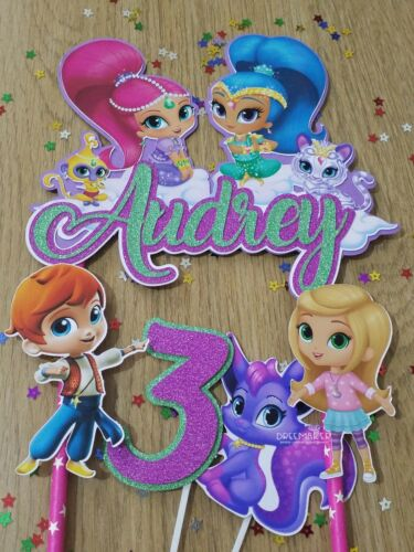Shimmer and Shine cake topper  cake decoration party supply