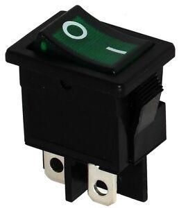 Interrupteur Commutateur Contacteur Bouton Bascule Vert Dpst On-off 6a/250v