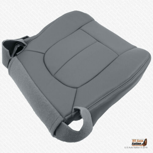 2009 2010 Ford F450 F550 Work Truck Front Driver Bottom Seat Cover Vinyl Gray