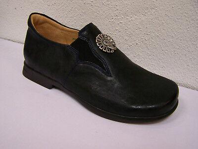Think! Schuh Pensa dunkelblauer Slipper ozean + Schuhbeutel auch für Oktoberfest | eBay