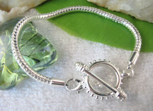 5 PCS Rose Toggle Clasp European Charm Bracelets 19cm W6860