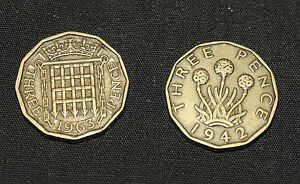 Old English Threepence Coin for Spell work & Prosperity Magic - Pagan, Wicca,