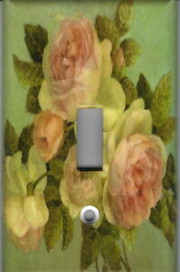 PINK-ROSES-ON-GREEN-PINK-ROSES-HOME-DECOR-SINGLE-LIGHT-SWITCH-PLATE