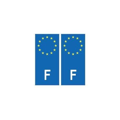 France europe autocollant plaque droits