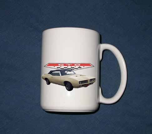 FREE SHIPPING!! NEW  1969 Pontiac GTO 15 Oz mug!