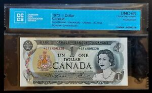 1973-Bank-of-Canada-1-Replacement-Note-GF6404320-CCCS-Choice-UNC-64-BC-46aA