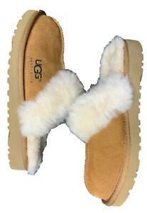 BRAND-NEW-UGG-Scuffette-II-Slippers-Chestnut-Size-2-Kids-New-without-Box