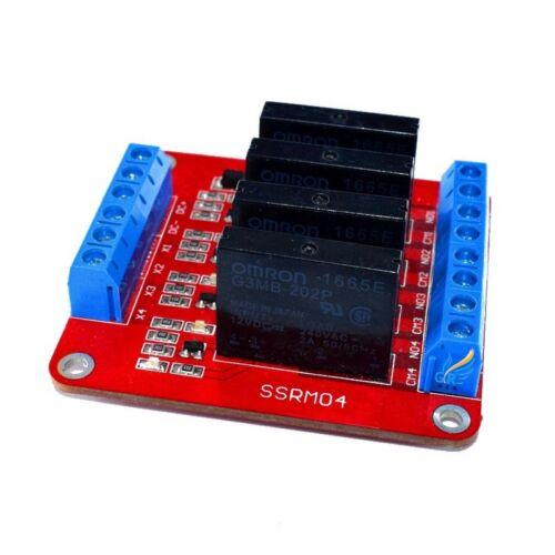 4 Channel 5 V Solid State Relay Module SSR Interrupteur avec fusible pour Arduino