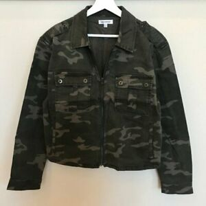 GOOD AMERICAN Camo Print Military Jacket Sz XS/S Retail: $209