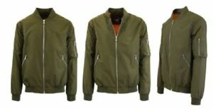 7af184efd Details about Spire By Galaxy Men's Plus Size Aviator Jacket - Olive Green  - Size 4XL
