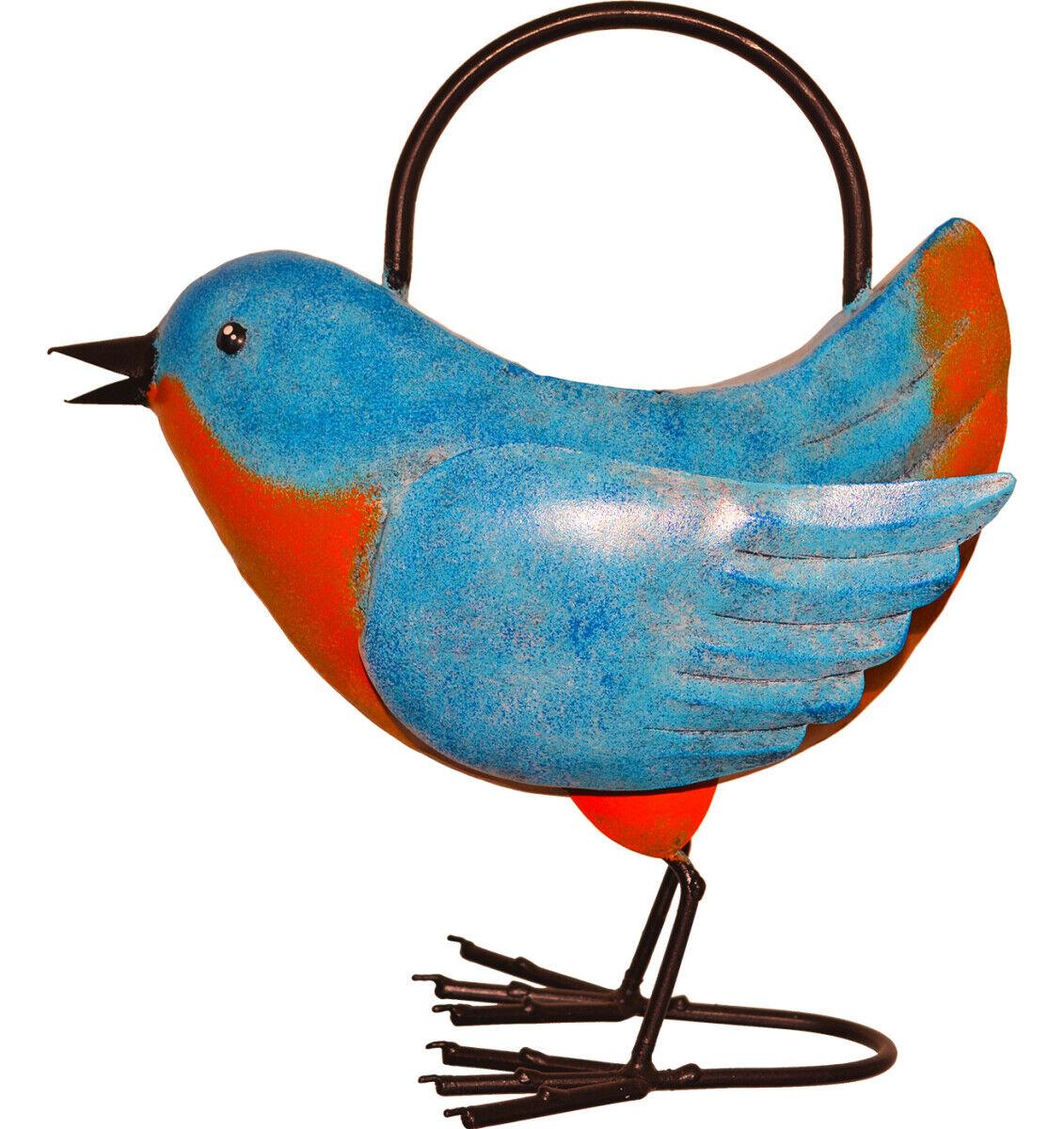Timmy the Bluebird Handmade Metal Watering Can