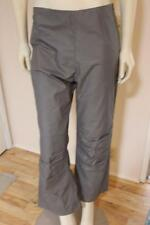 NWT Artine Boutique Art to Wear Coated 100% Cotton Ruched Knee Gray Pants Size M