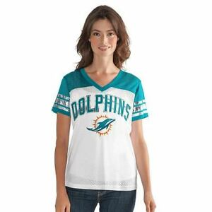 Nice Miami Dolphins T Shirt Women's Jersey NFL All American V Neck Mesh  for sale