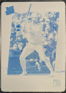 🔥 JO ADELL RC TRUE 1/1! 2021 Panini DONRUSS Cyan PRINTING PLATE Rated Rookie