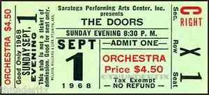 12-1967-1970-THE-DOORS-FULL-UNUSED-CONCERT-TICKETS-scrapbooking-frame-reprint