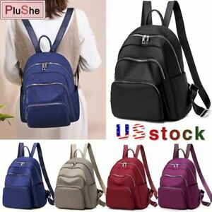 Women Girl Multi-function Backpack Travel Shoulder School Bag Purse Rucksack US