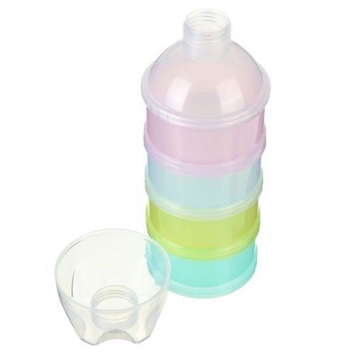 4 Schichten Milchpulver Kasten Formel Spender Kinder Babyernaehrung Reise B V8H9