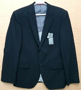 "MARKS & SPENCER Mens Black Wool Suit Jacket Size 40"" Chest Short MRRP £115-00"