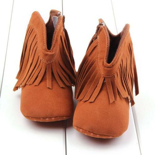 Toddler Infant Newborn Baby Shoes Soft Sole Casual Boots Tassel Prewalker Shoes