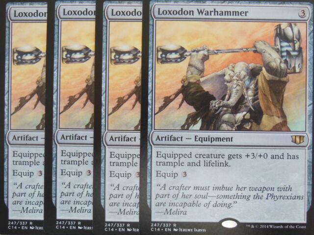 XXX 4x LOXODON WARHAMMER englisch commander 2014 (equip lifelink trample) NM/M