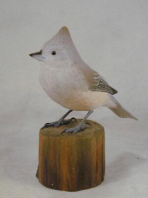 Oak Titmouse Original Bird Wood Carving