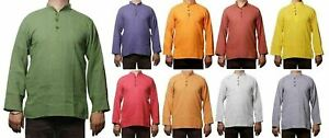 Men-039-s-Indian-Cotton-Shirt-Short-Kurta-Indian-Clothing-Fashion-Casual-Dress