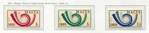 37480) Malta 1973 MNH Europa 3v