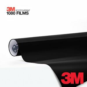 3M 1080 Scotchprint 5ft x 6ft Gloss Black Vinyl Car Wrap Film