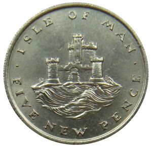 A90-Isle-Of-Man-5-Pence-1971-Tower-Of-Refuge-au-UNC-km-22