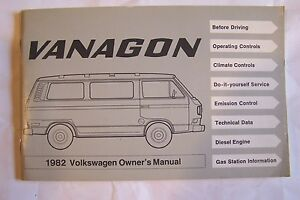1982 vw vanagon owners manual parts service new original ebay rh ebay com 1984 vanagon owners manual pdf 1984 vanagon owners manual pdf