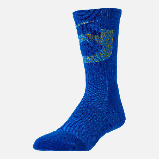 Nike Kevin Durant KD Elite Dri fit Crew Blue NBA Basketball Socks Large