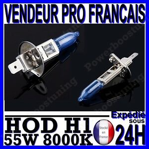 ampoule plasma hod h1 55w lampe halogene feu effet xenon blanc blanche 8000k 12v ebay. Black Bedroom Furniture Sets. Home Design Ideas