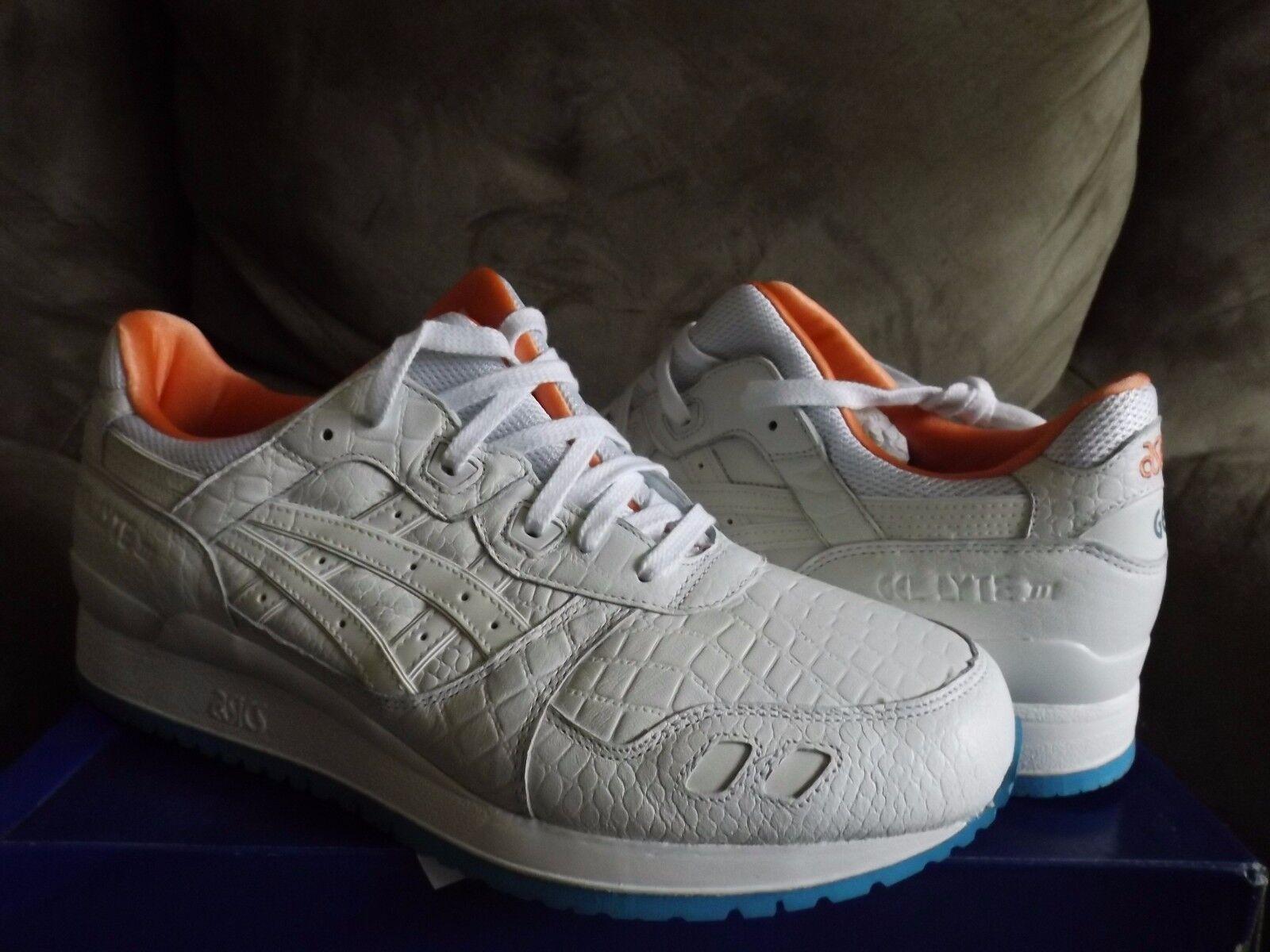 Asics Gel-lyte III Men's Running Shoes Miami Vice White H540L 0101 New w/Box
