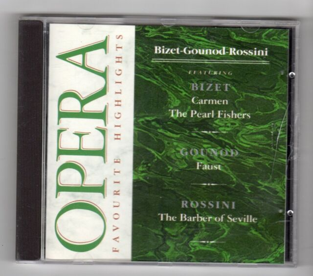 (IH696) Opera: Favourite Highlights, Bizet-Gounod-Rossini - CD