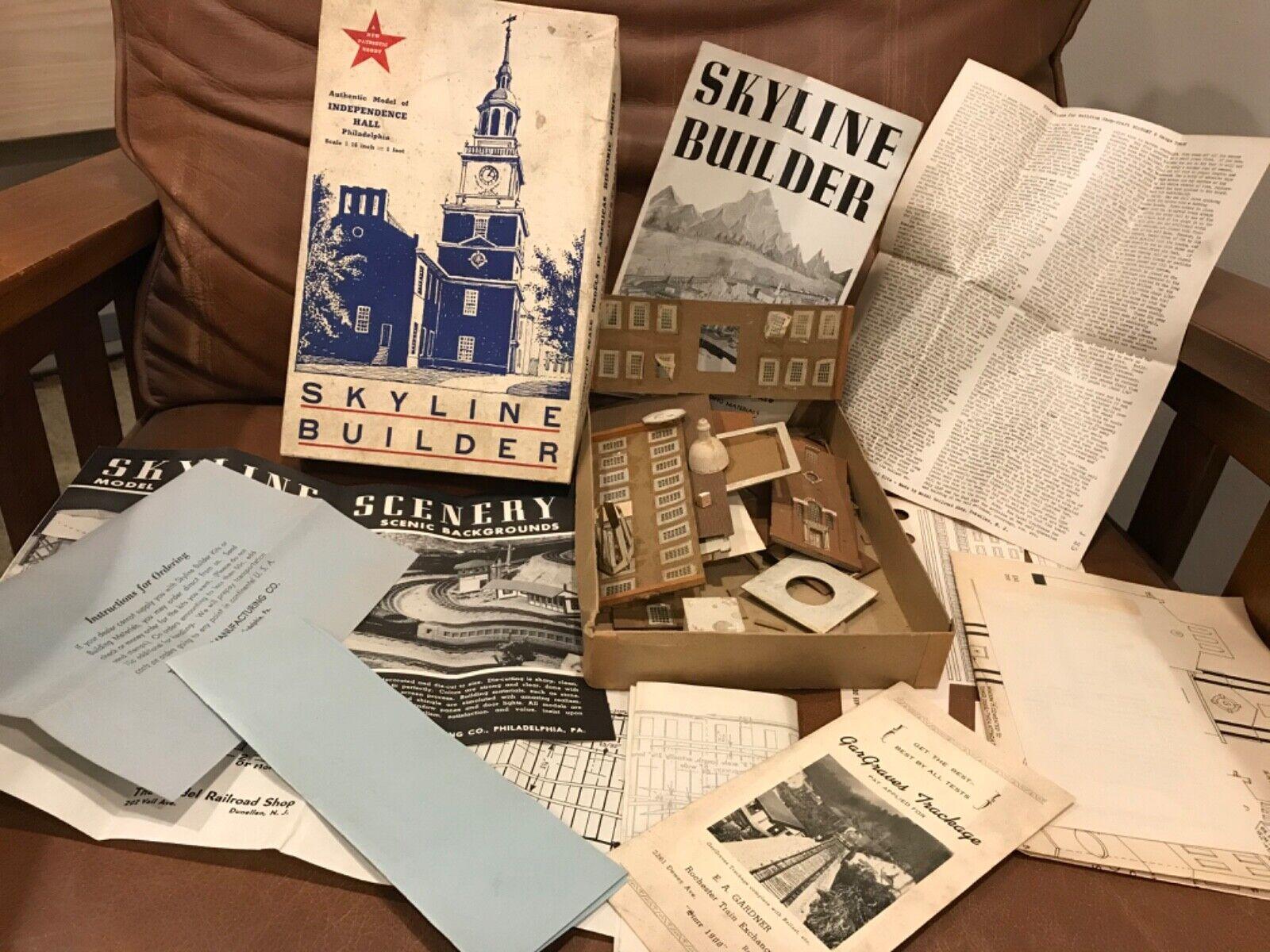 Skyline constructor Nº 655 papel de tarjeta de Salón de la independencia Rara Vintage Modelo
