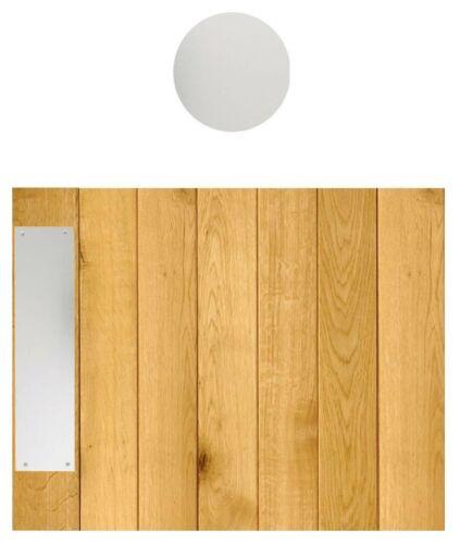 ALUMINIUM DOOR PUSH PLATE DRILLED /& CSK IMPERIAL SIZE VARIOUS SIZES SATIN FINISH