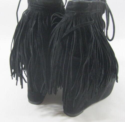 À 12 Talon 6 Sexy Haut Noir Cheville Privileged Bootsize Volants 7cm Plateforme RY5Hfwq