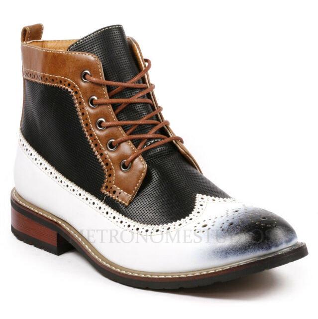 Metrocharm MC304 Mens Lace Up Wing Tip Oxford Boot
