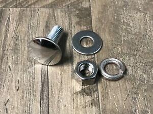 """Mopar 6 bumper Bolts Nuts Lock Flat Washers Stainless Capped bolt 3//8-16 x 1/"""""""