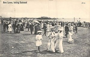POSTCARD-SUSSEX-HOVE-Lawns-looking-Eastward