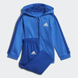 Adidas Infant Boys Sports Tracksuit Kids Children Linear Hoodie Fleece Jogger
