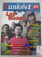 rivista PUNKSTER 11/2005 Lag Wagon Satanic Surfers Propagandhi John Lydon No cd