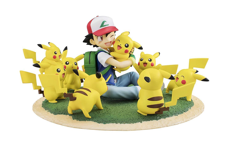 G.E.M.Series Pokémon Ash Ketchum & Pikachu (Crowd of  Pikachu Ver.) Japan version  magasin vente sortie