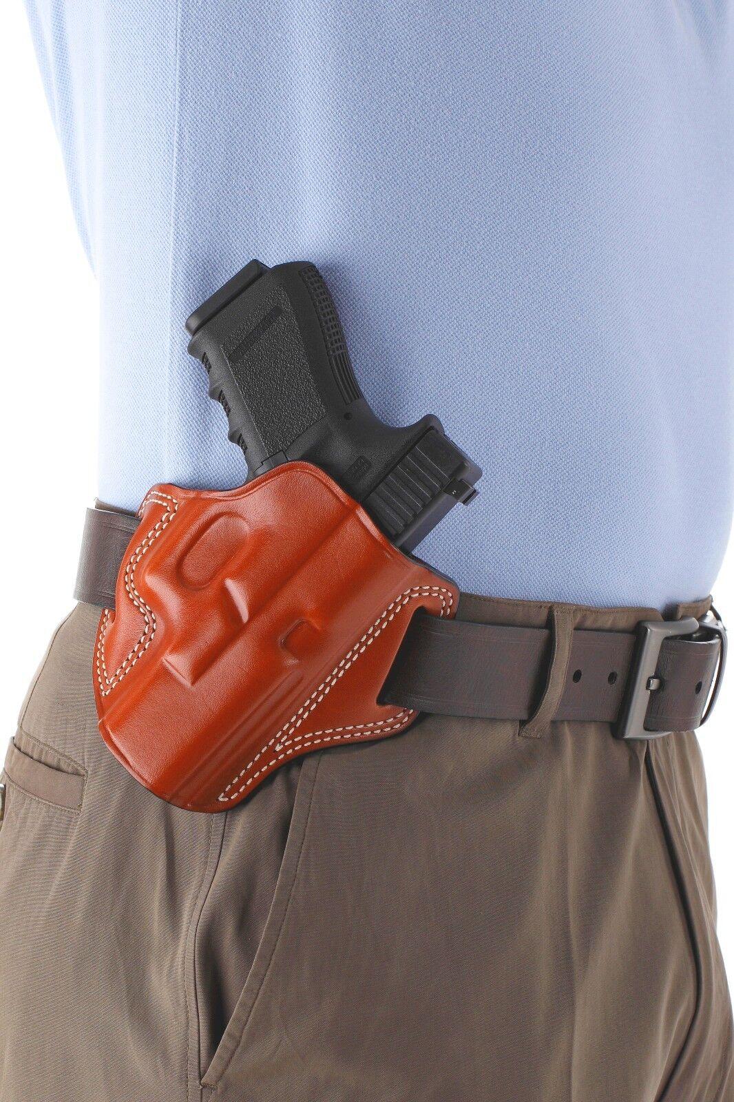 Leder Pancake Style Gun Holster  - - - Smith Wesson GOVERNOR  ( 6034) 781b89