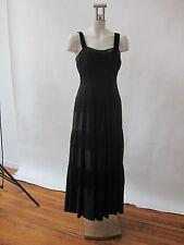 Mondi Ladies Evening Gown Dress Black Silk Netting Velvet Full Skirt 36