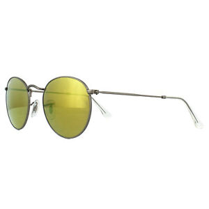 86eea796aa1deb Ray-Ban Sunglasses Round Metal 3447 029 93 Matt Gunmetal Brown ...