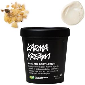 Lush-Karma-Kream-Cream-skin-soothing-hand-amp-body-lotion-225g-NEW