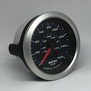 Marshall-3-3-8-034-Electronic-Speedometer-Blueline-Dial-Silver-Bezel-2152