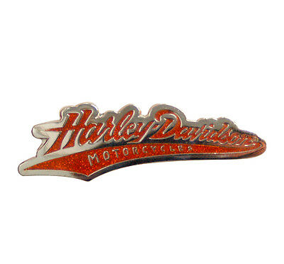 Baseball Script Metal Insignia Harley Davidson Authentic Pin