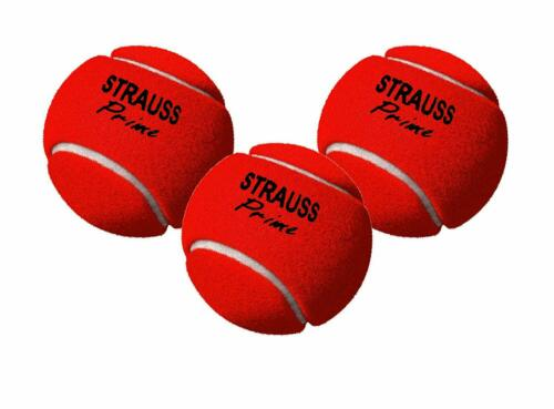Strauss Tennis Cricket Ball Red Pack of 3 Free Shipping